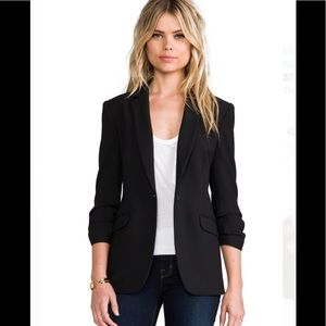 NEW ELIZABETH & JAMES JAMES BLK STRUCTURED BLAZER